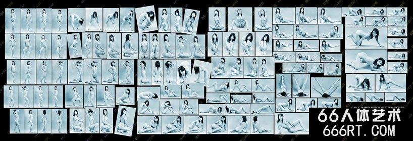 人体艺术写真基础姿态参考100图一