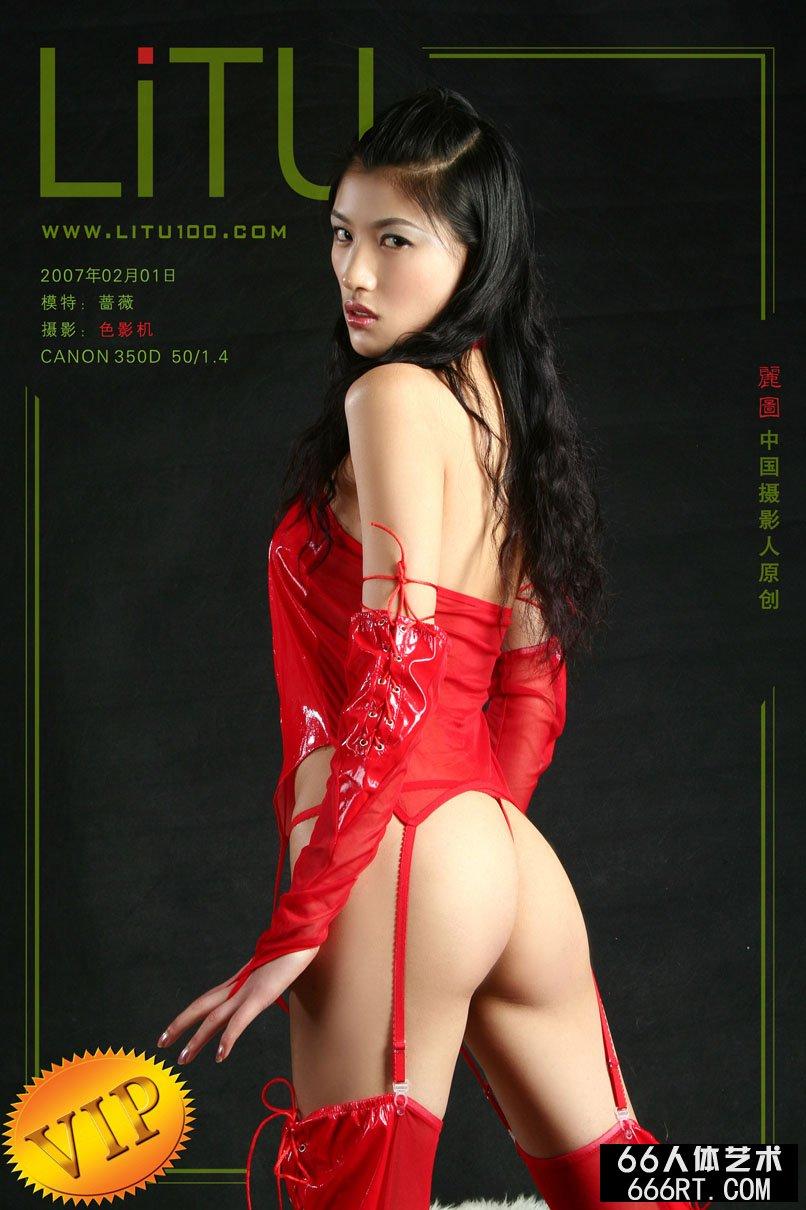 美模蔷薇07年2月1日棚拍火红情趣内裤