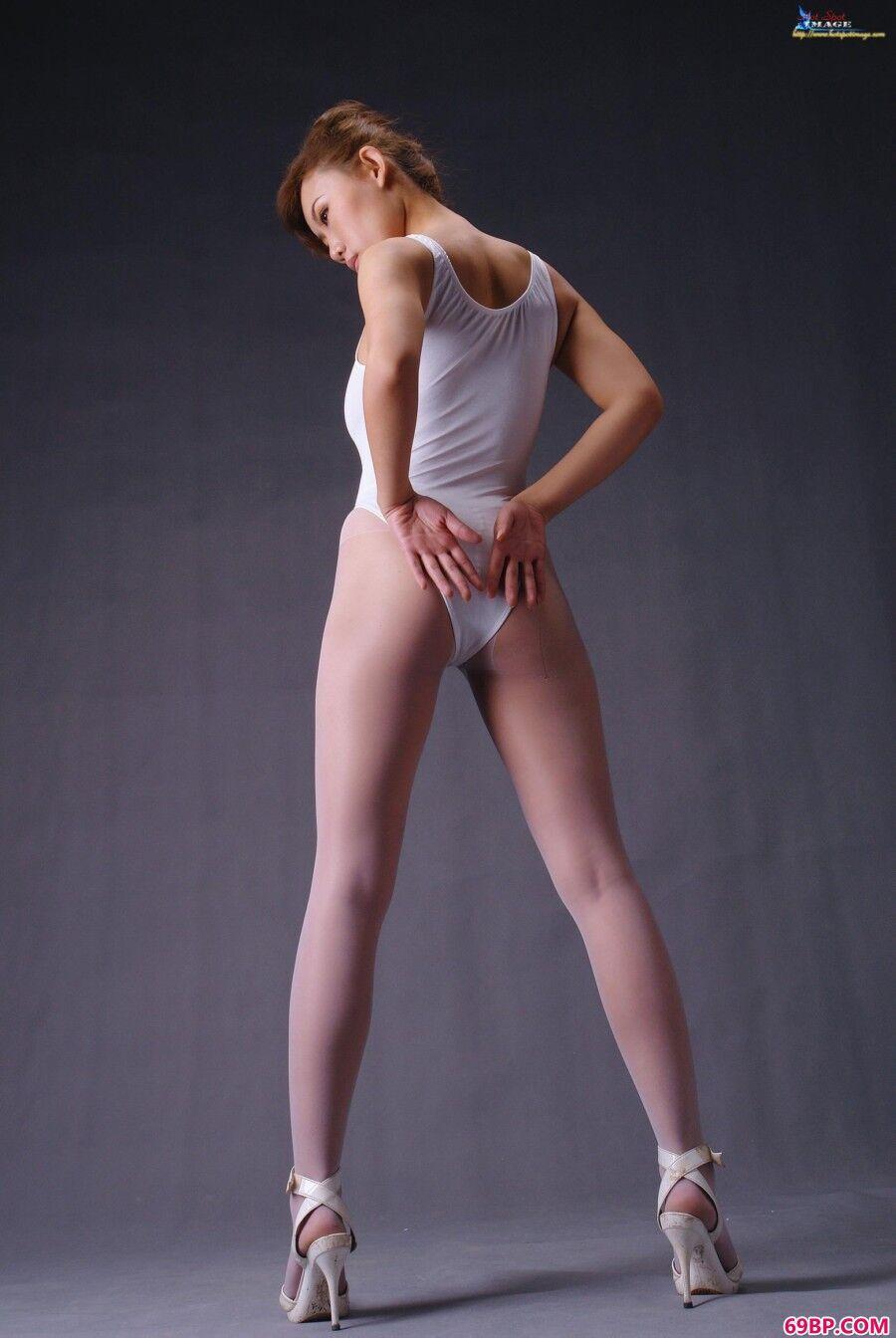 蓝依吊带袜与性感内裤造型