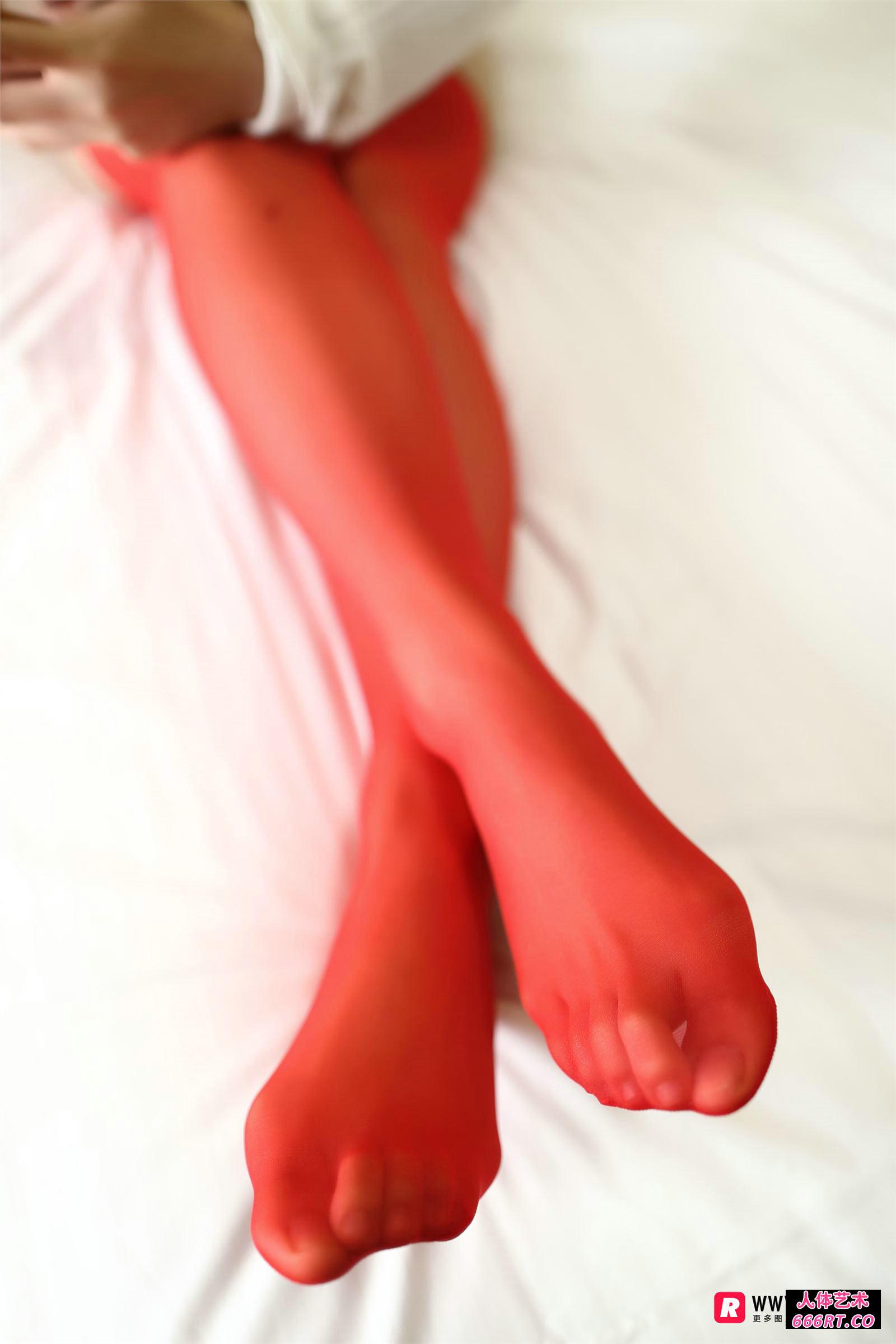 [ROSI摄影]NO.2218红色肉丝性感内衣靓女